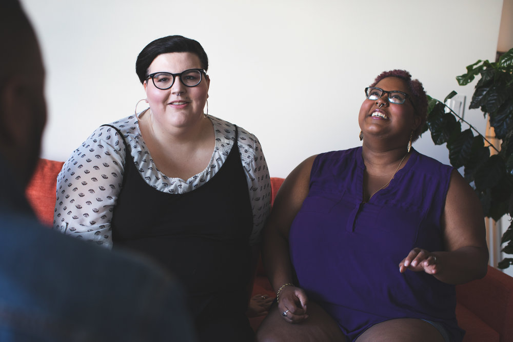 Body Shaming at Thanksgiving- plus size couple- Michael Poley of Poley Creative for AllGo
