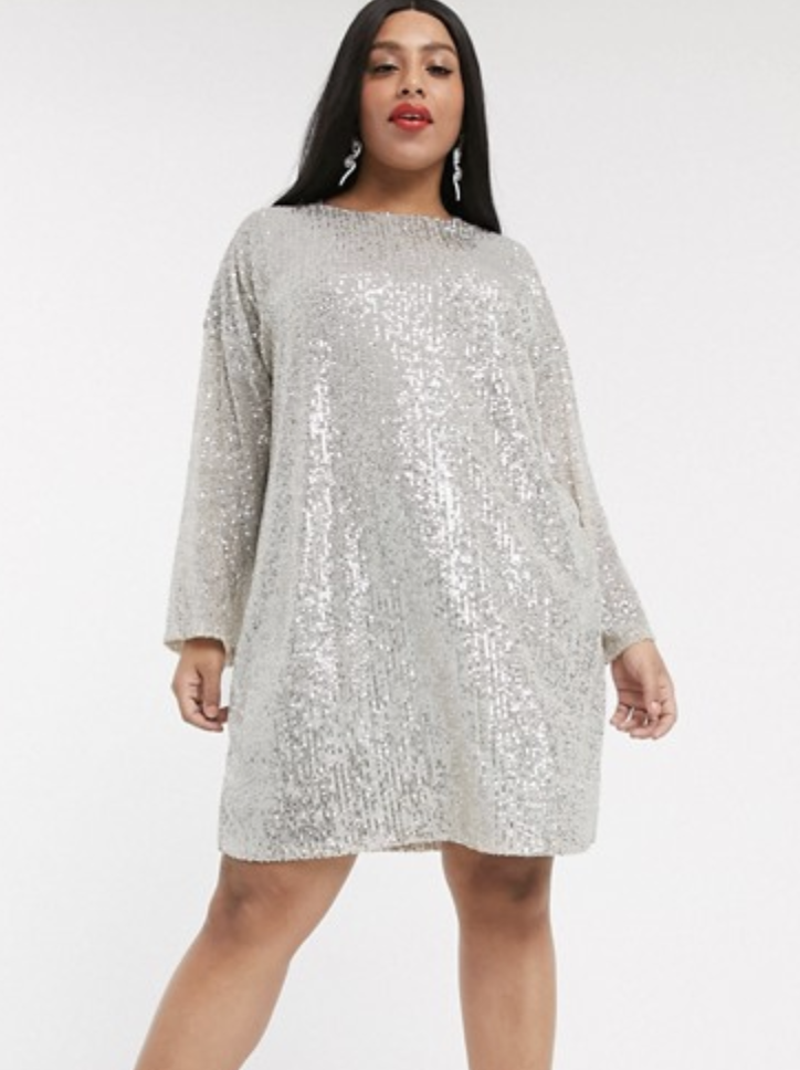 ASOS Silver Party Dress