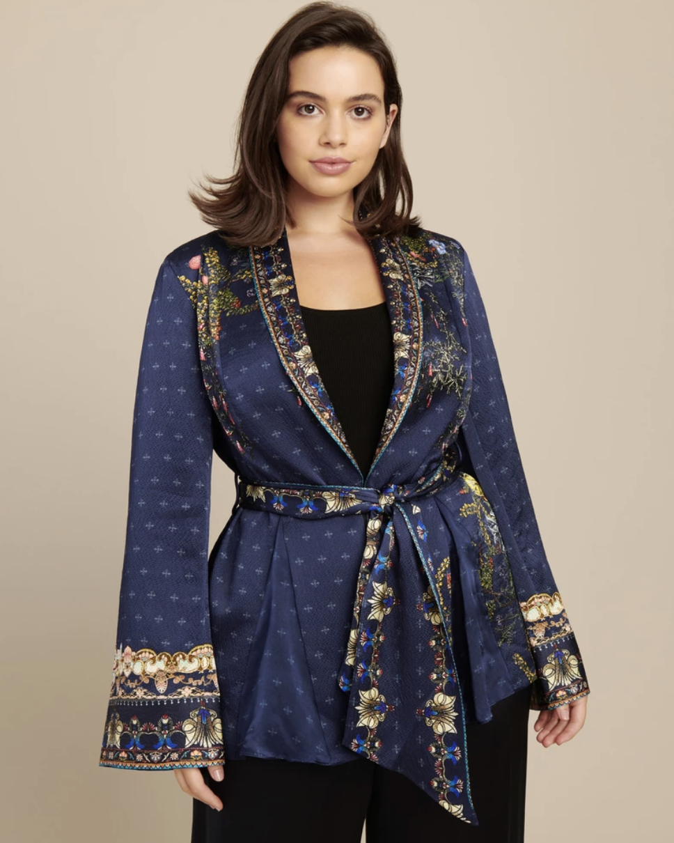 11 Honore Loose Jacket with Godets