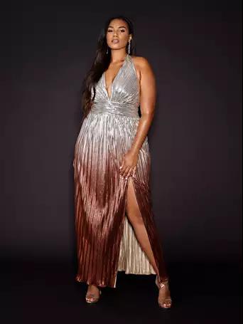 Metallic Ombre Dress