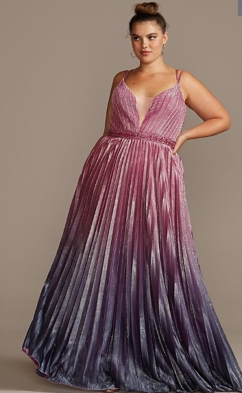 Pink and Purple Ombre Dress from Davids Bridal