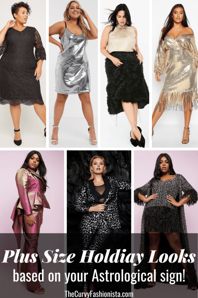 Plus Size Holiday Looks based on your astrological sign