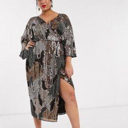 Curve midi kimono dress