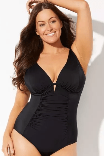 Black One Piece Bathing Suit