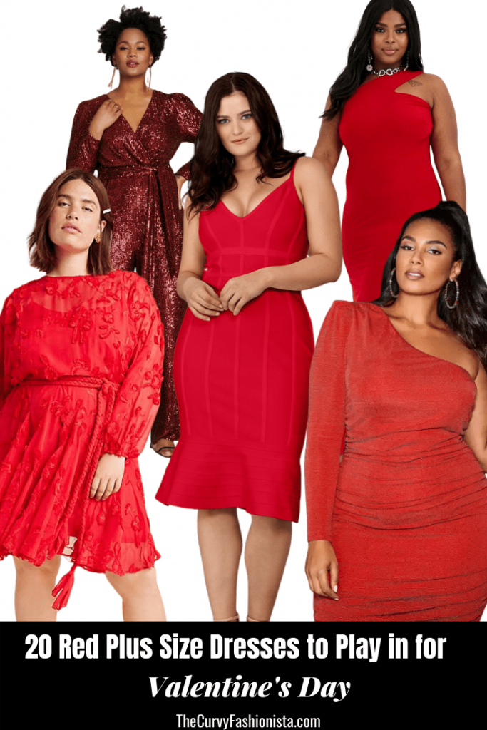 20 Red Plus Size Dresses to Play in