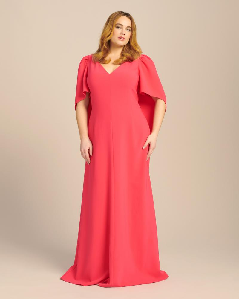 11 Honoré and Carolina Herrera- V-Neck Gown with Cape and Open Back