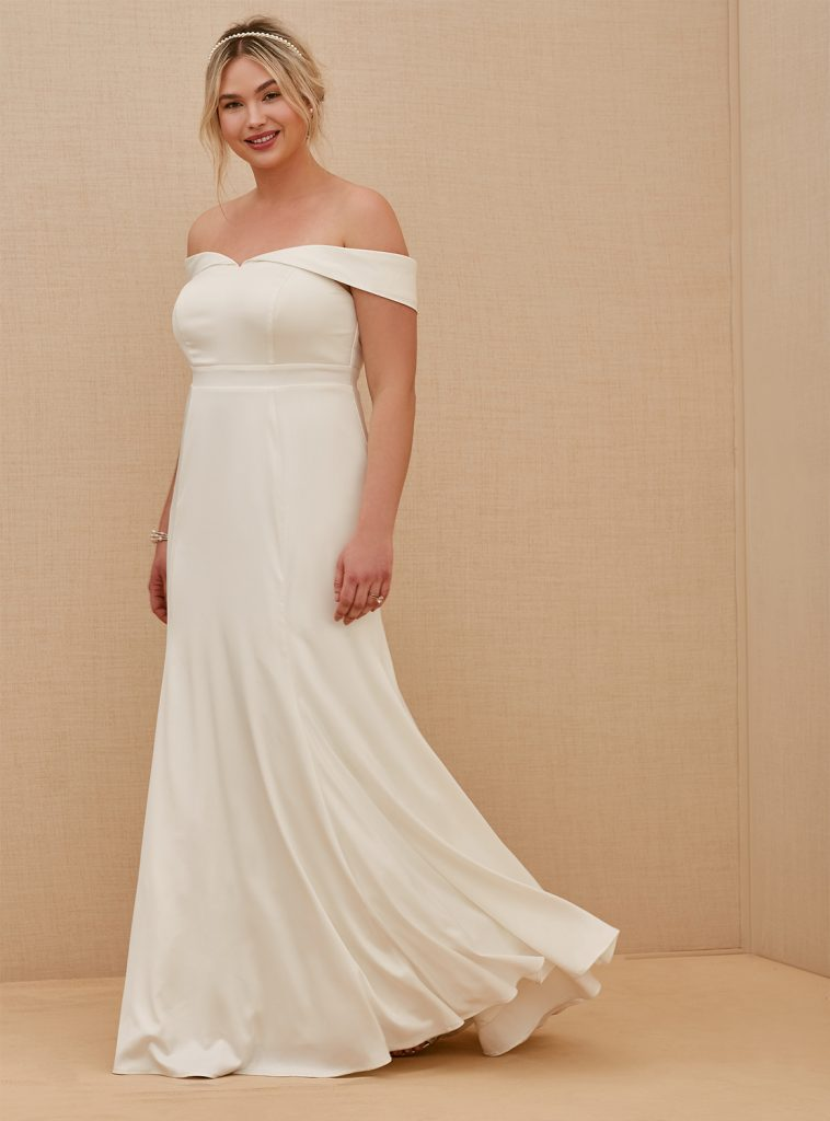 TORRID Satin Mermaid Wedding Gown, $298 torrid.com