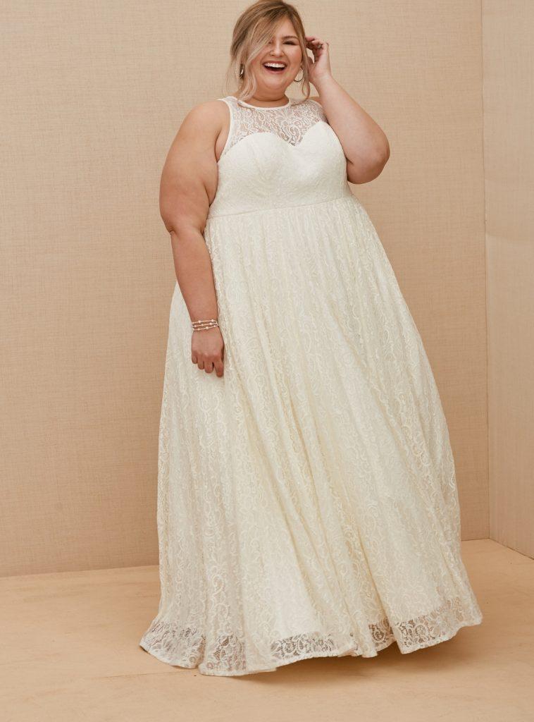 TORRID Sequin & Lace A-Line Wedding Gown, $398 torrid.com