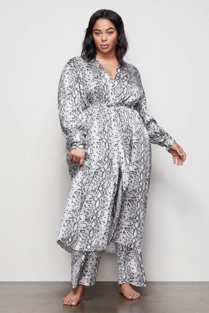 The Purely Python Robe at GoodAmerican.com