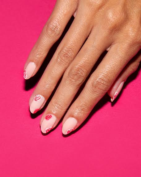 Rose Valentine's Day Manicure