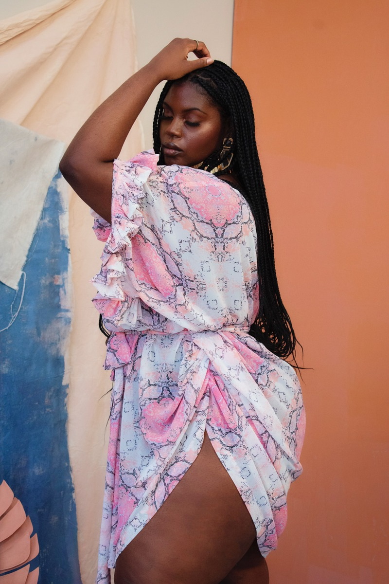 Zelie for She Resort Plus Size Collection- Miami Breeze Kaftan