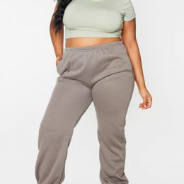 PLUS KHAKI CASUAL JOGGER