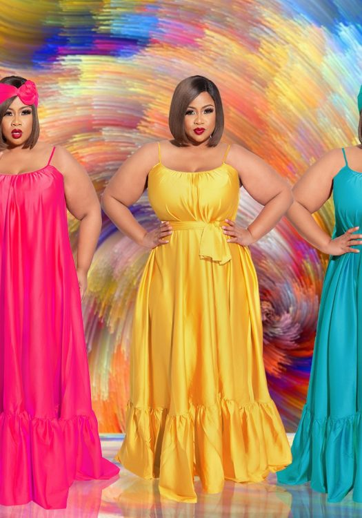 Chic and Curvy Plus Size Boutique-Maxi Dress
