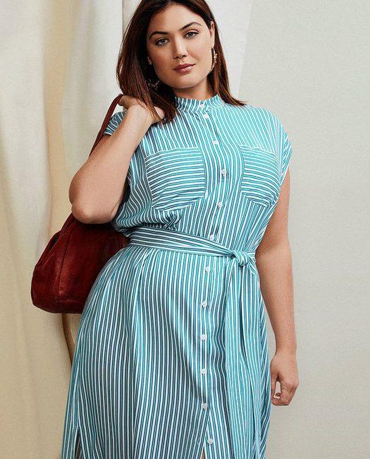 plus size shirt dress at eloquii