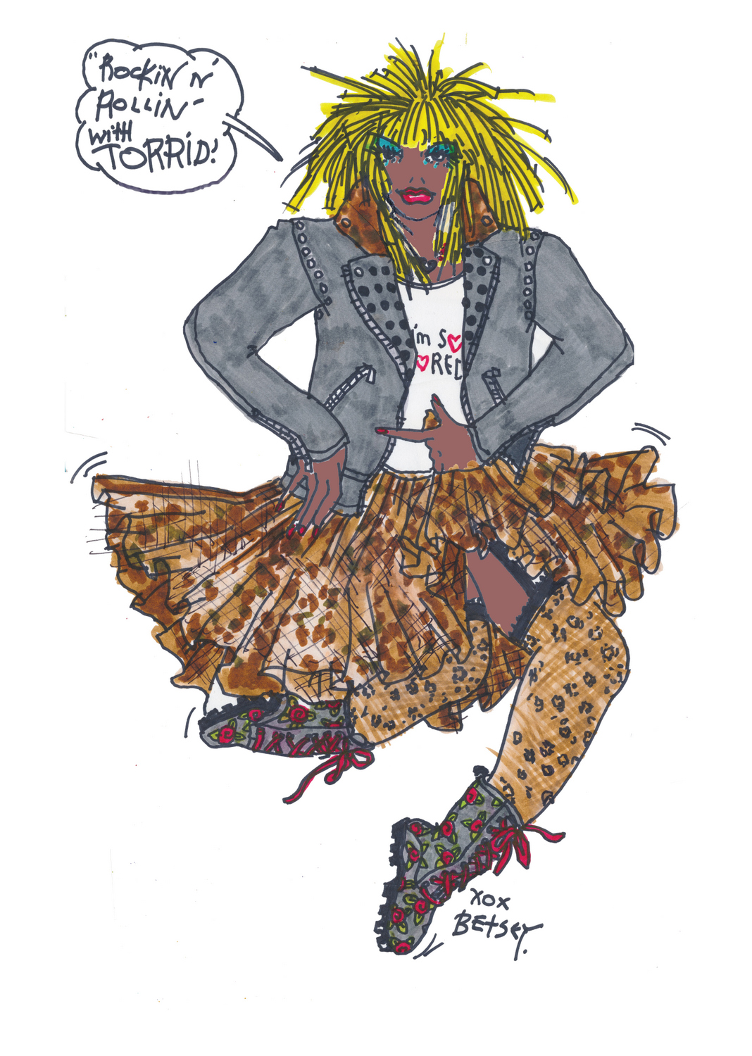 Torrid Meets Betsey Johnson Collection- Sketch