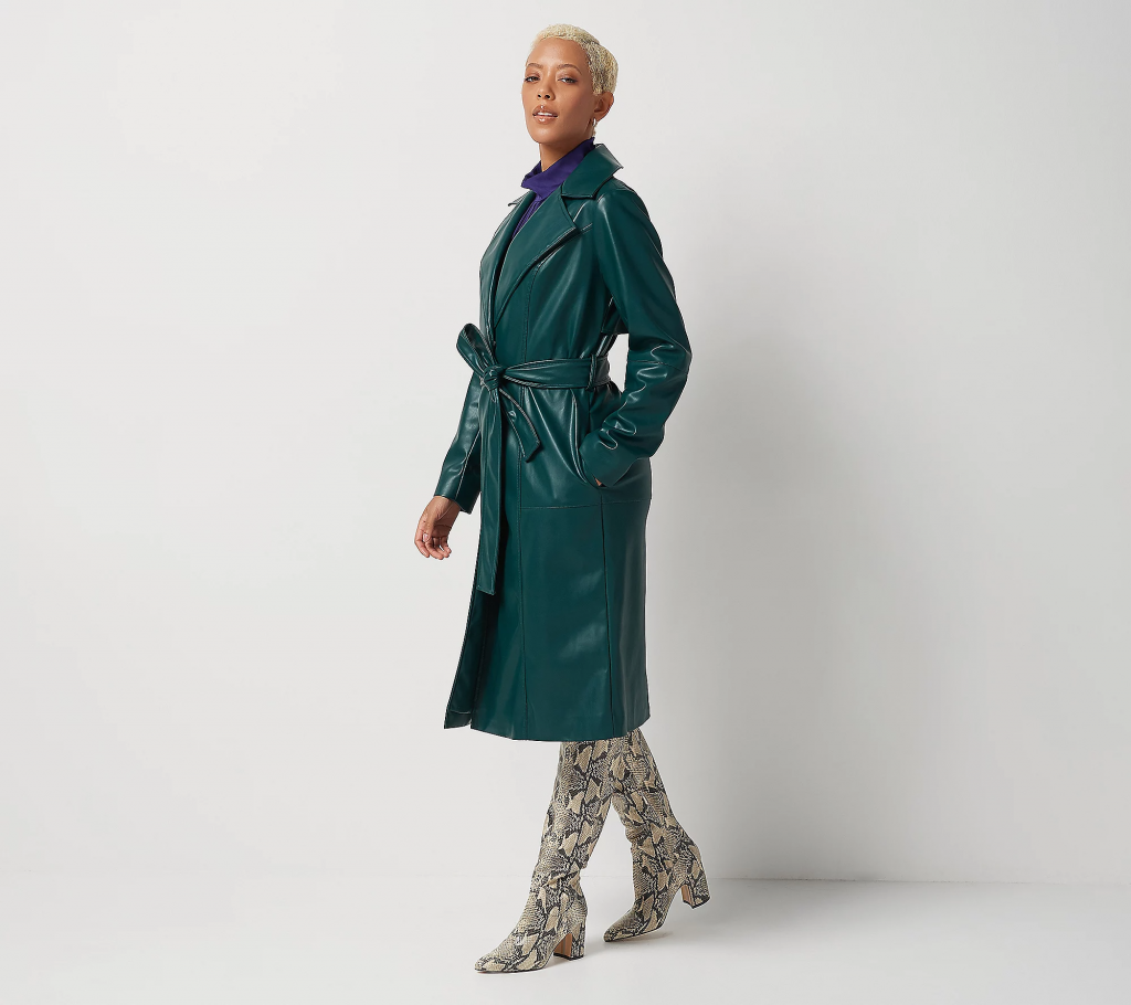 J Jason Wu Faux-Leather Trench