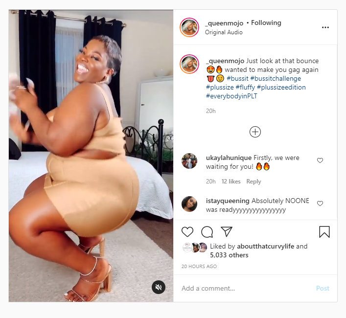 #Bussitchallenge the Plus Size edition