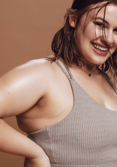 plus size woman working out. fitness
