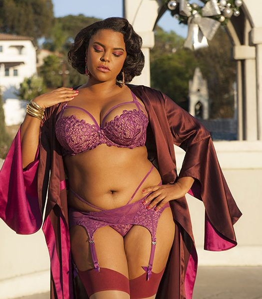 PLUS SIZE LINGERIE Jenny Rieu collaboration with Dita Von Teese Lingerie & Marjolaine through Glamuse