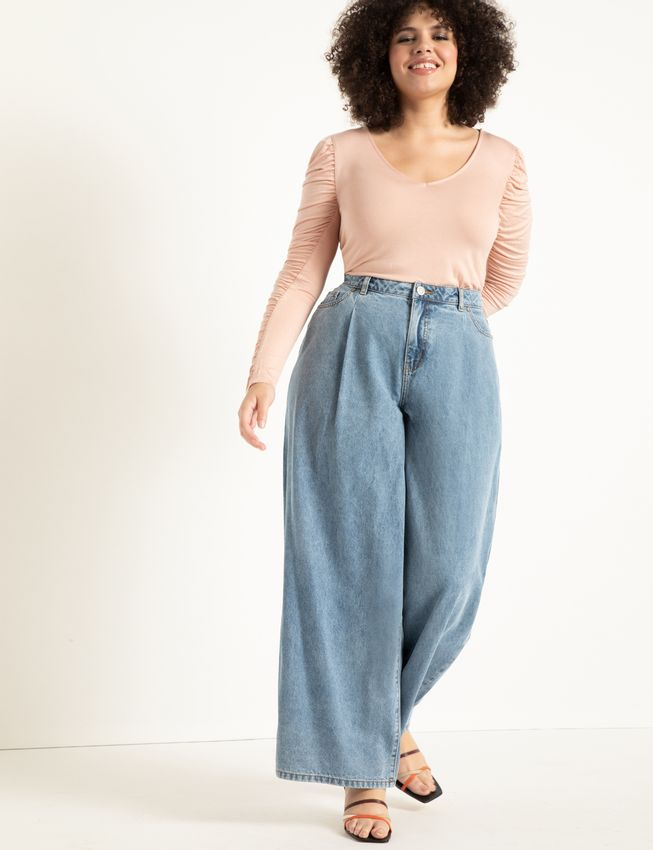 Statement-Making Plus Size Spring Trends - wide leg pants