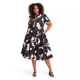 Plus Size Short Sleeve Shirtdress - ALEXIS for Target