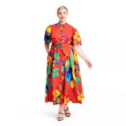 Plus Size Floral Puff Sleeve Shirtdress - Christopher John Rogers for Target