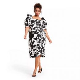 Plus Size Floral Puff Sleeve Faux Wrap Dress - Christopher John Rogers for Target