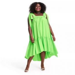 Plus Size Tie Strap High-Low Babydoll Dress - Christopher John Rogers for Target