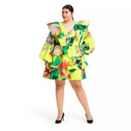 Plus Size Floral Long Sleeve Ruffle Dress - Christopher John Rogers for Target