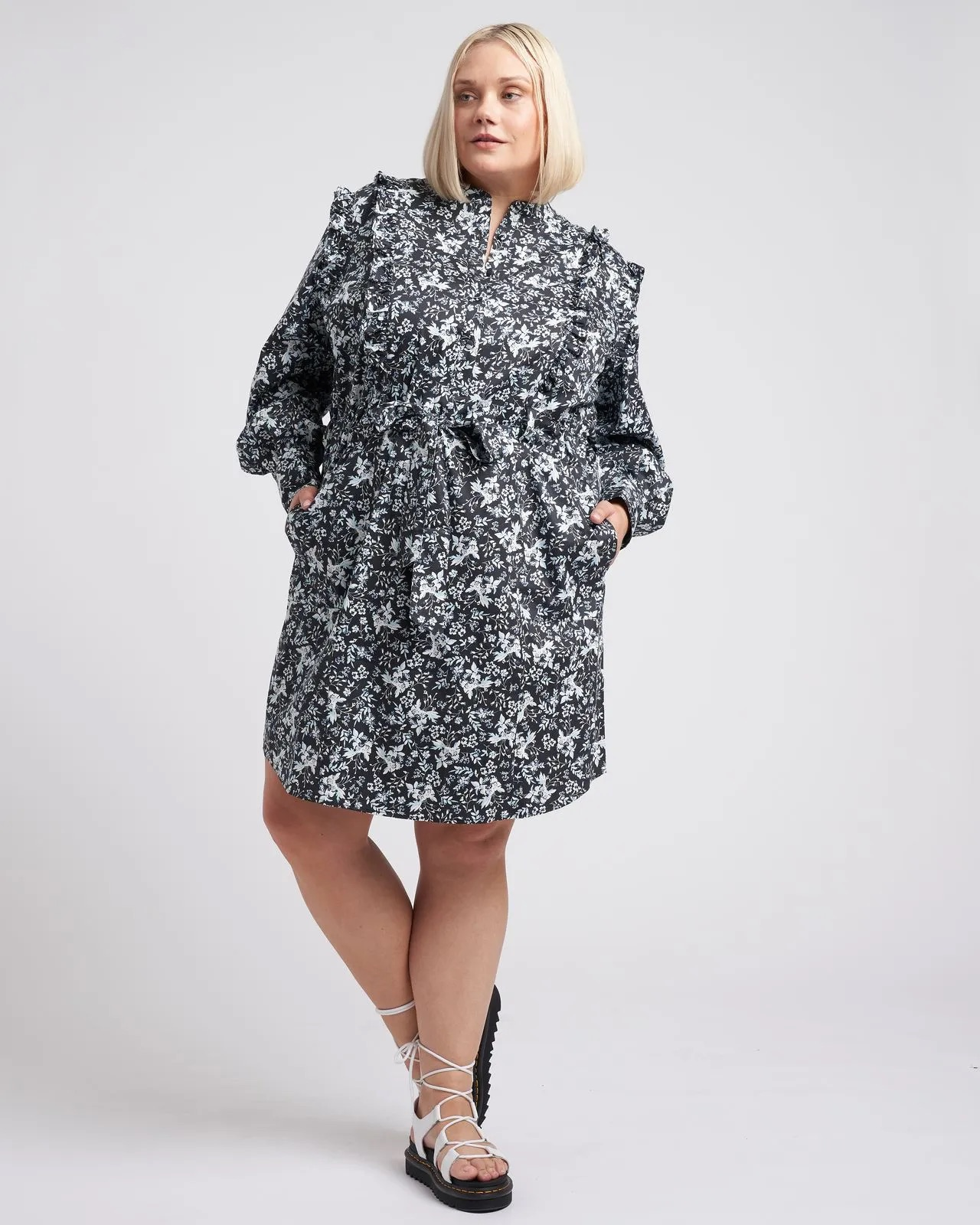 Primrose Ruffle Dress Erdem x Universal Standard