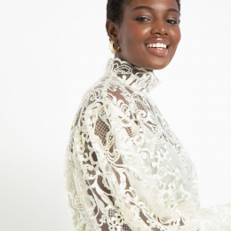 The Retta Blouse at Eloquii - Plus size lace top