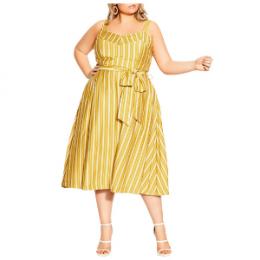 city chic striped dress