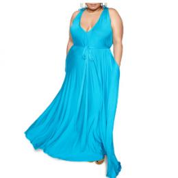 zelie for she blue maxi dress