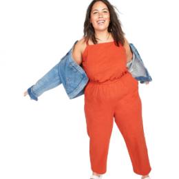 orange plus size jumpsuit
