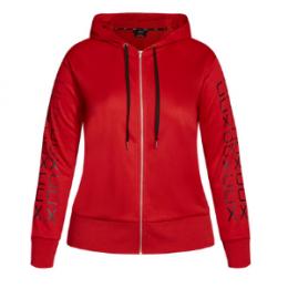 city chic logo zip hoodie