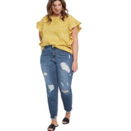 plus size classic boyfriend jeans
