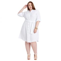 plus size cotton gauze shirtdress
