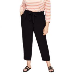 plus size tie waist tapered pant