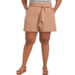 plus size shorts with belt