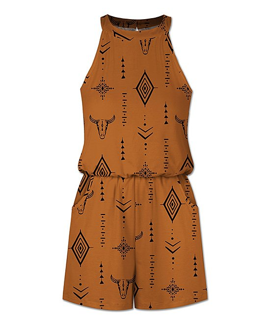 plus size abstract romper