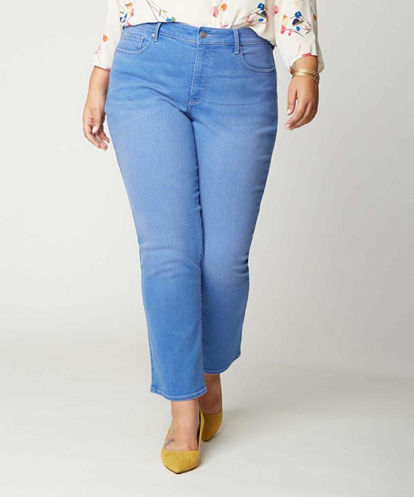 plus size crop straight leg jeans