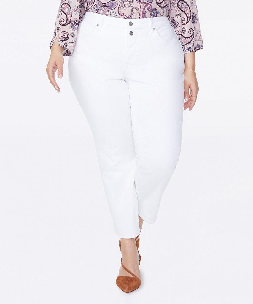 plus size white straight leg jeans