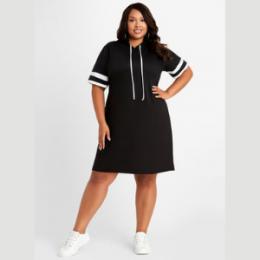 plus size drawstring dress