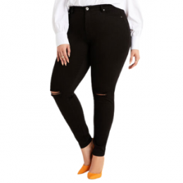 plus size black skinny jeans