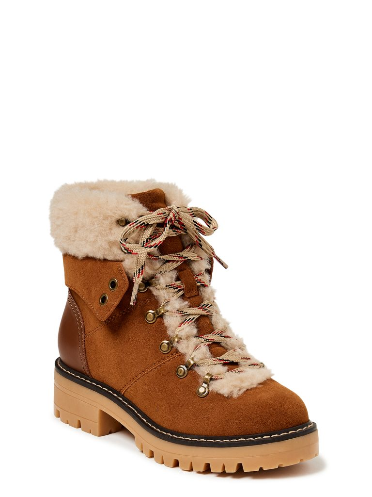 fuzzy brown boots
