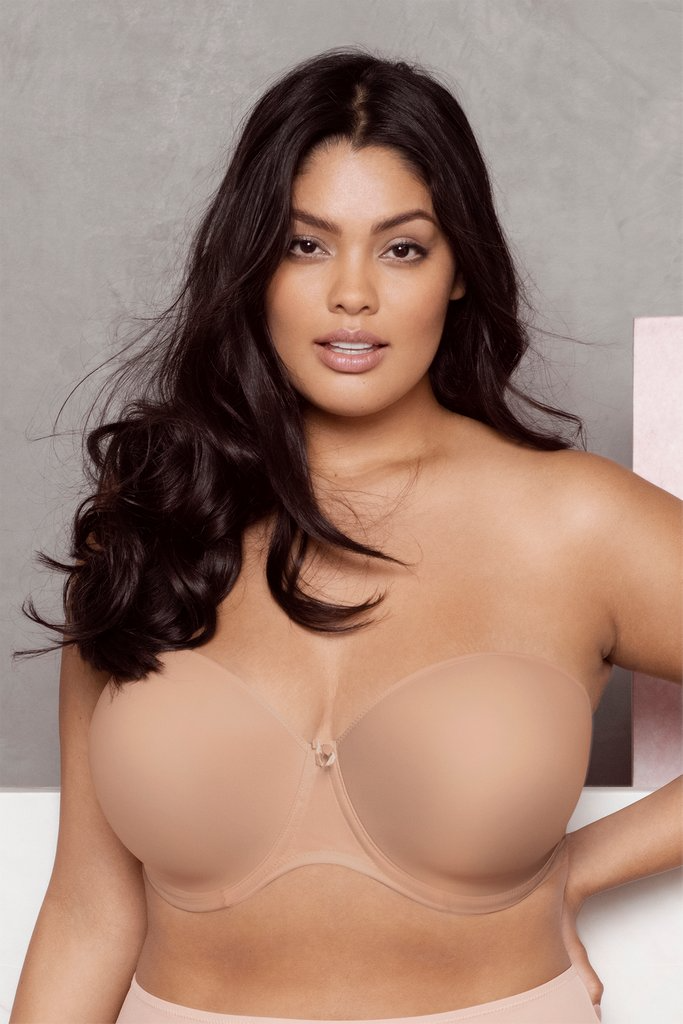 Image of a woman wearing the Elomi smoothing strapless