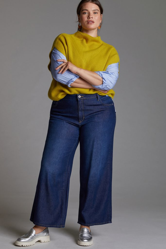 If you are looking for a few more plus size pairs of jeans, then you have to check out the newly launched Pilcro denim from Anthropologie! Sustainable, up through a size 26, and stylish? Sign us up!