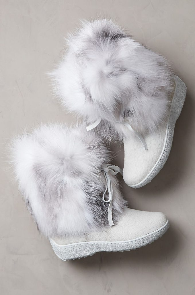 Fall and Winter Fur Boots from Overland—Women's Volpe Wool-Lined Fox Fur and Calfskin Boots
