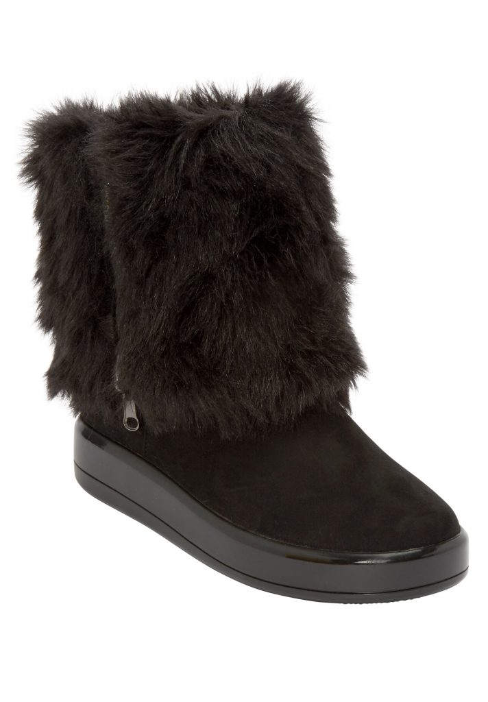 Fall and Winter Fur Boots Woman Within—The Shai Wide Calf Boot