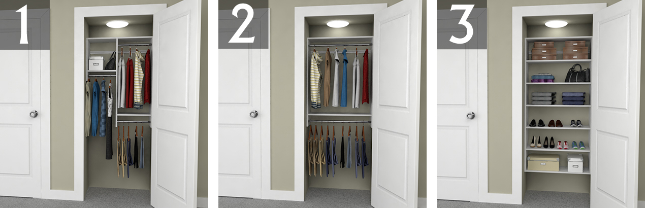 Wonderful Reach In Closet Organization Ideas Part - 7: 3-foot Closet